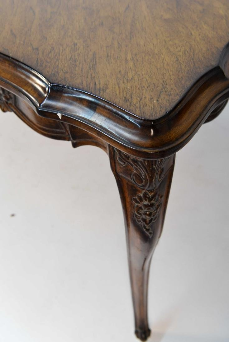 FRENCH STYLE CARVED WOOD DINING TABLE - 8