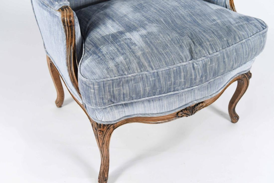 UPHOLSTERED FRENCH BERGERE ARMCHAIR - 4