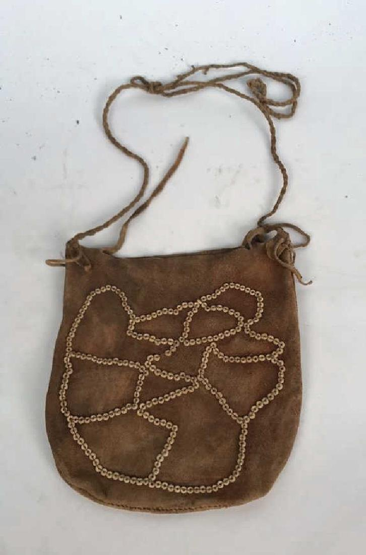 AFRICAN BEADED LEATHER BAG