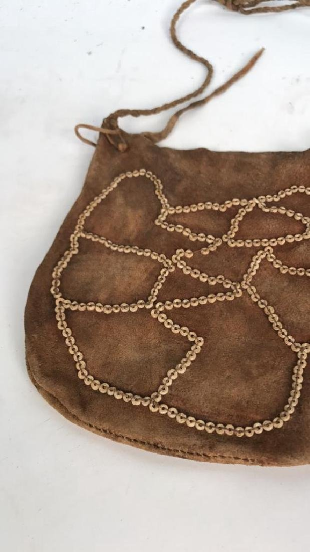 AFRICAN BEADED LEATHER BAG - 2