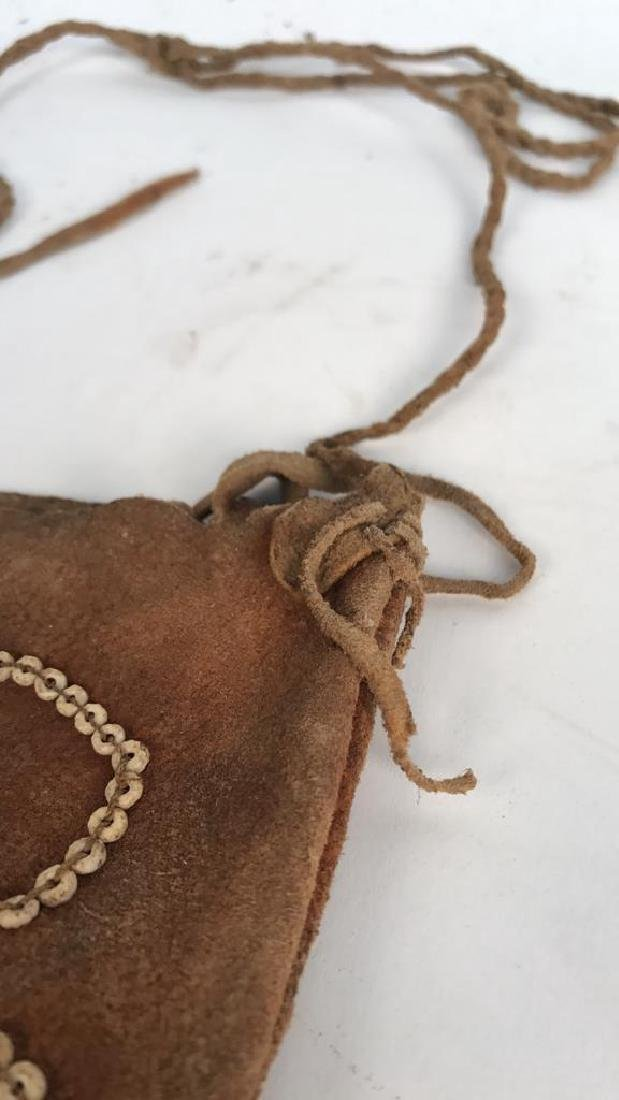 AFRICAN BEADED LEATHER BAG - 3