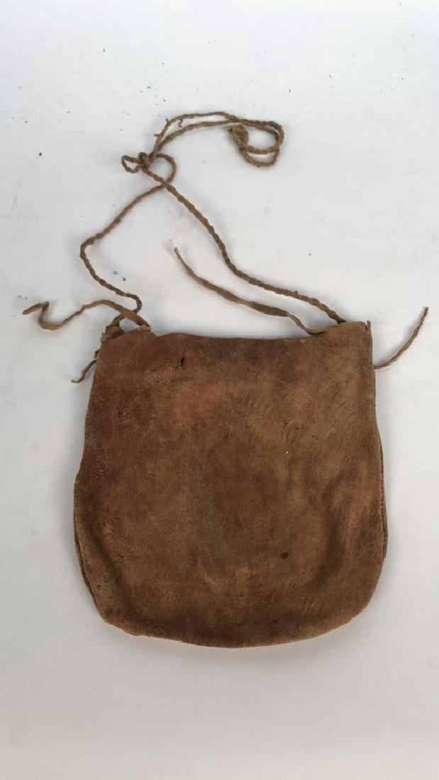 AFRICAN BEADED LEATHER BAG - 5