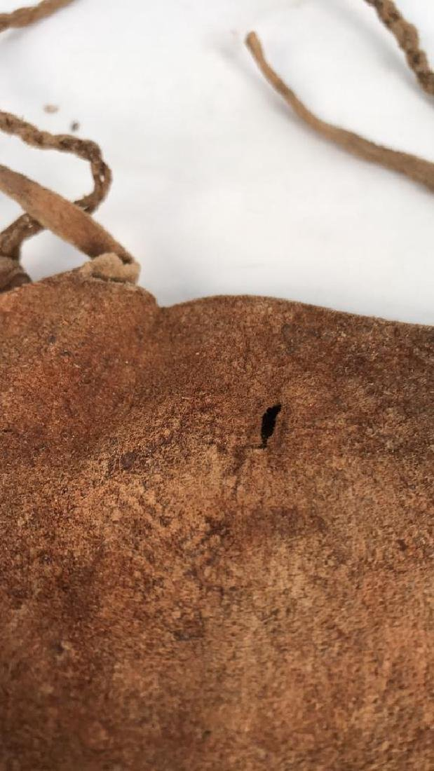 AFRICAN BEADED LEATHER BAG - 6