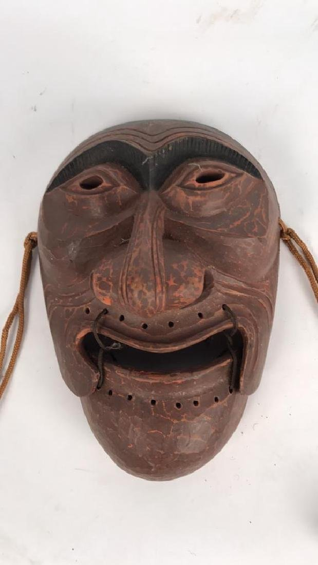 JAPANESE CARVED MASK - 2