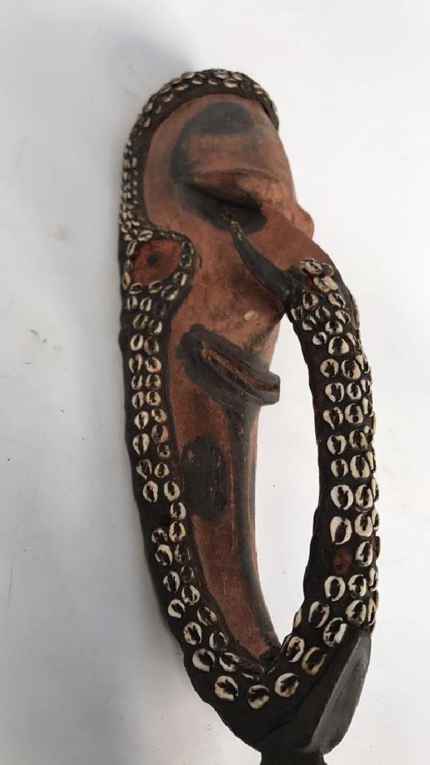 PAPUA NEW GUINEA CARVED WOODEN HEAD - 4