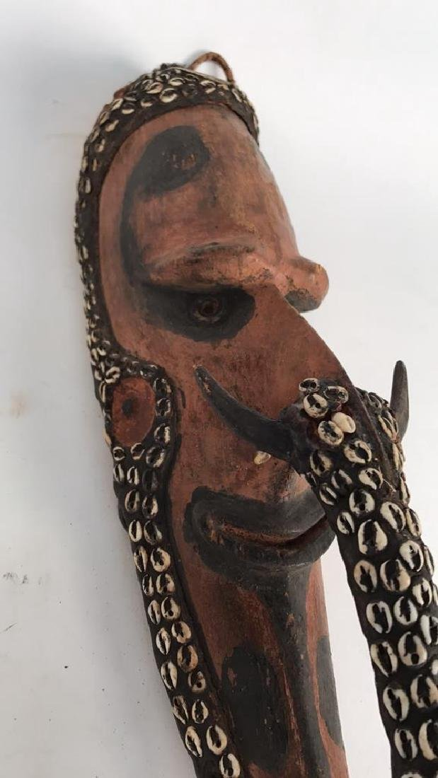 PAPUA NEW GUINEA CARVED WOODEN HEAD - 5