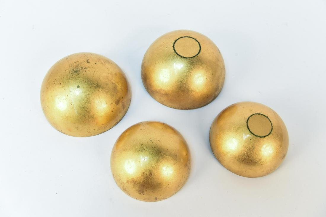 LACQUERED NESTING GLOBE BOWLS - 5