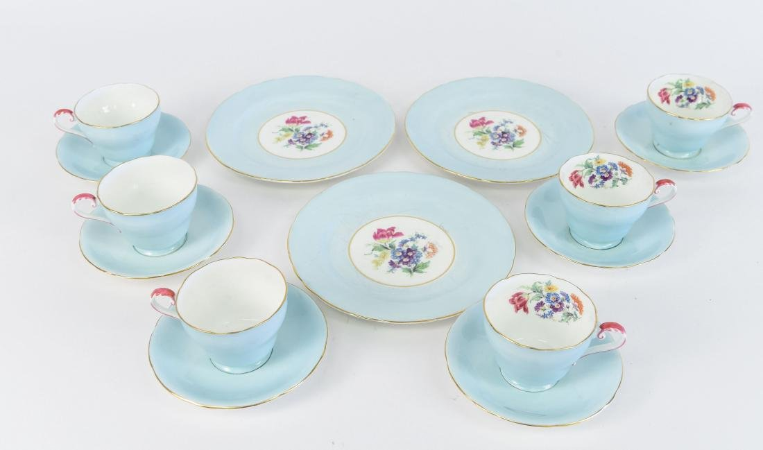 AYNSLEY ENGLAND BONE CHINA TEA SERVICE