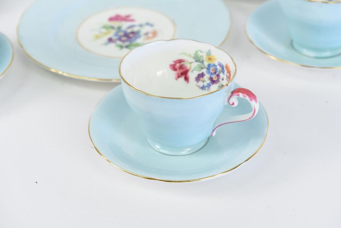 AYNSLEY ENGLAND BONE CHINA TEA SERVICE - 4