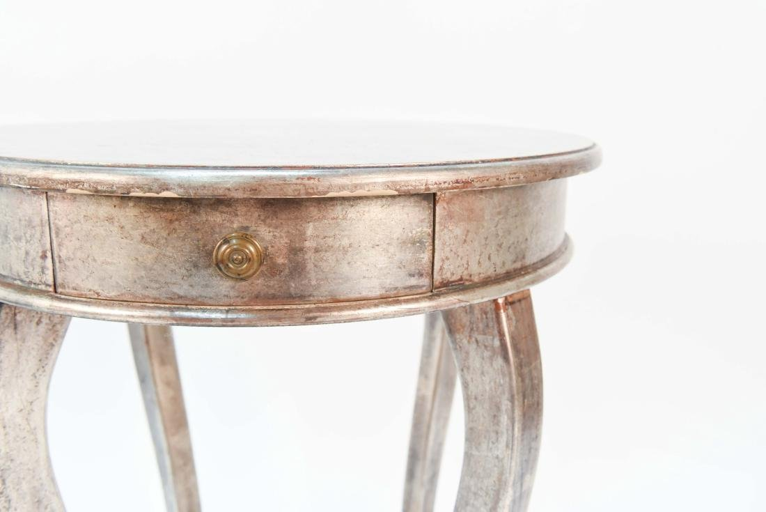 ITALIAN SILVER PAINTED WOOD SIDE TABLE - 4