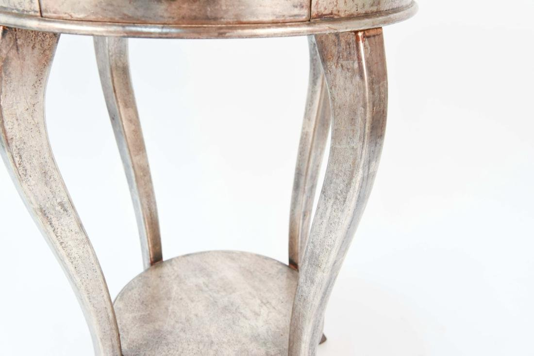 ITALIAN SILVER PAINTED WOOD SIDE TABLE - 5