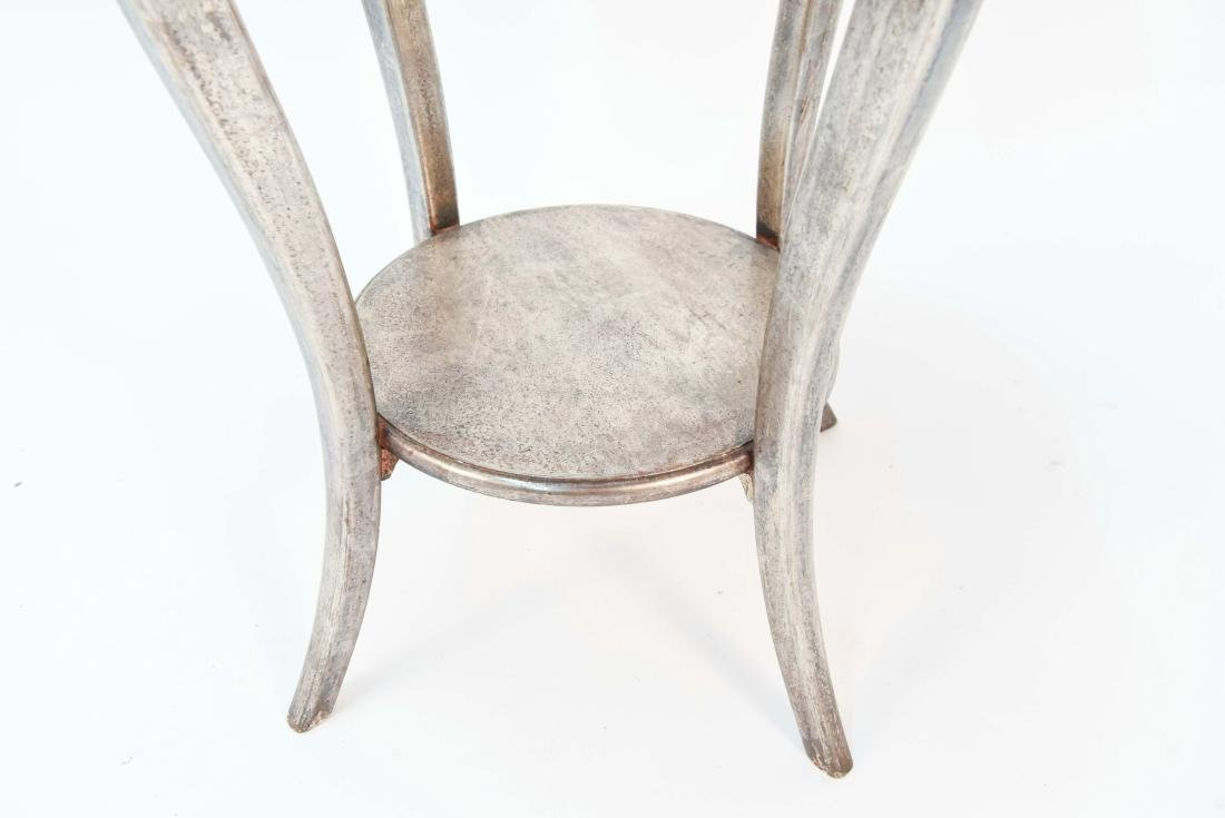 ITALIAN SILVER PAINTED WOOD SIDE TABLE - 6