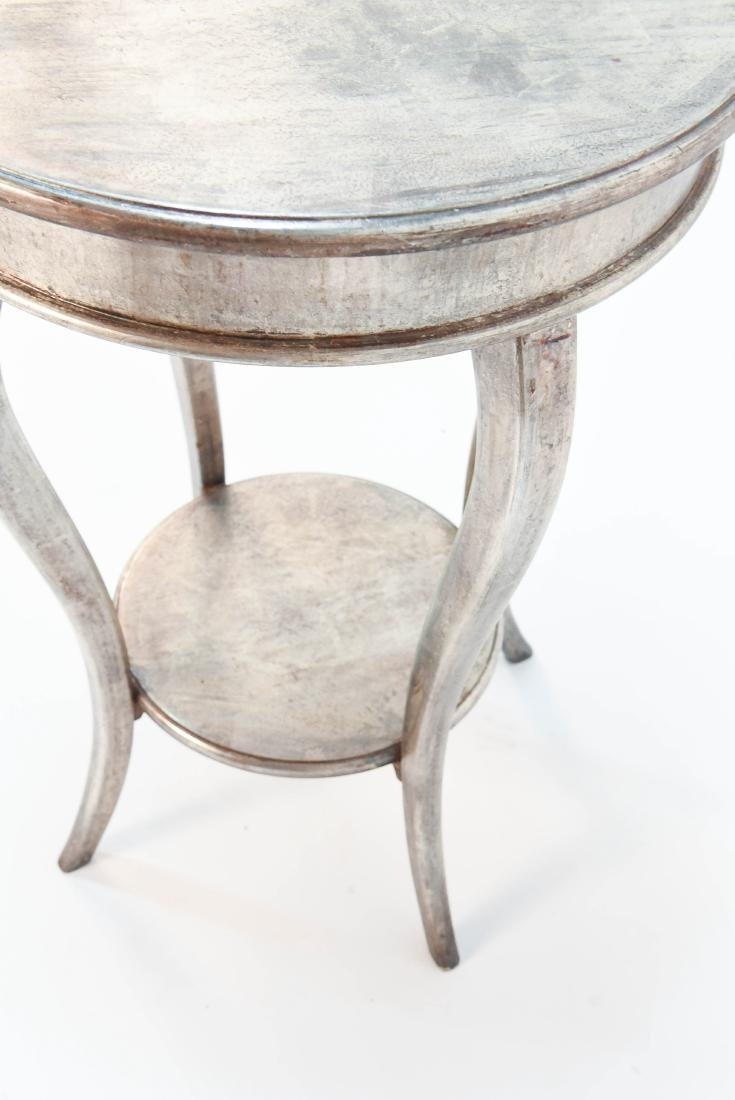ITALIAN SILVER PAINTED WOOD SIDE TABLE - 7
