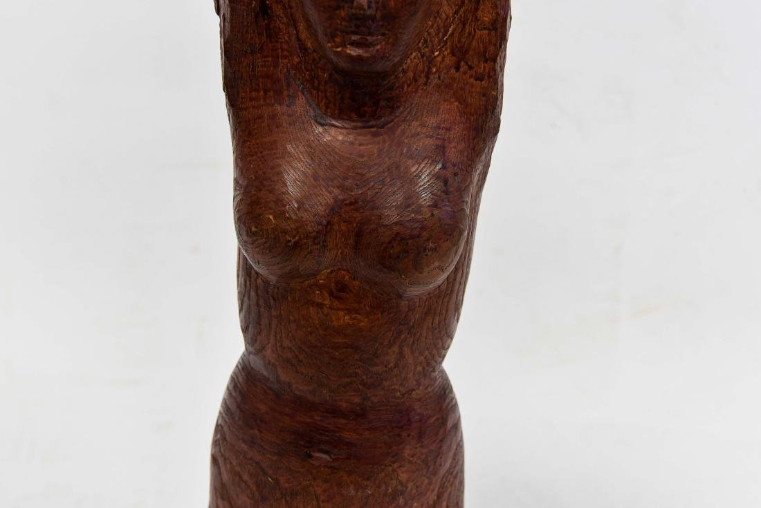 NUDE FIGURAL WOOD CARVING - 3