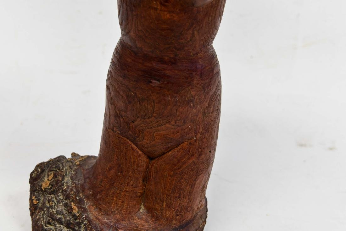 NUDE FIGURAL WOOD CARVING - 4