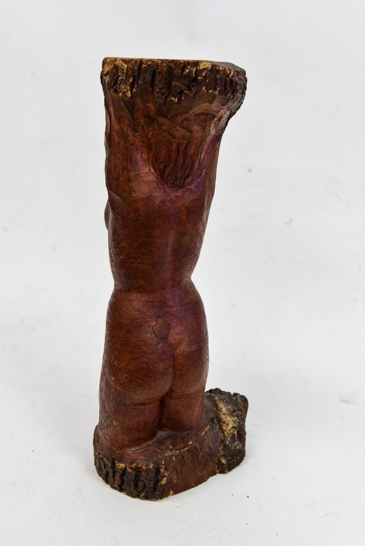 NUDE FIGURAL WOOD CARVING - 7