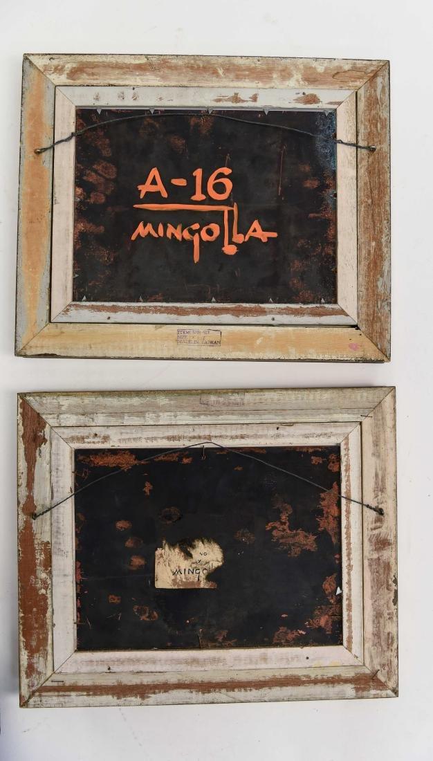 (2) DOM MINGOLLA ENAMEL ON COPPER PAINTINGS - 10