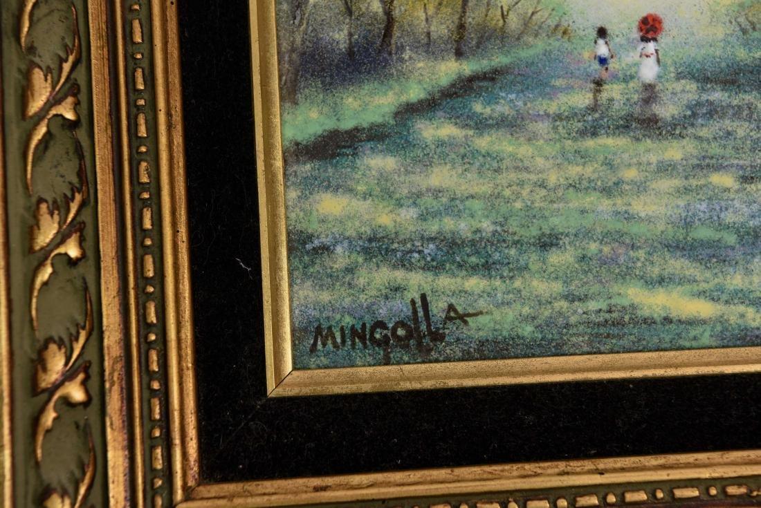 (2) DOM MINGOLLA ENAMEL ON COPPER PAINTINGS - 7