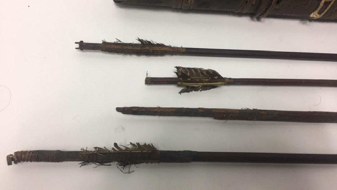 AFRICAN QUIVER W/ (4) ARROWS - 7