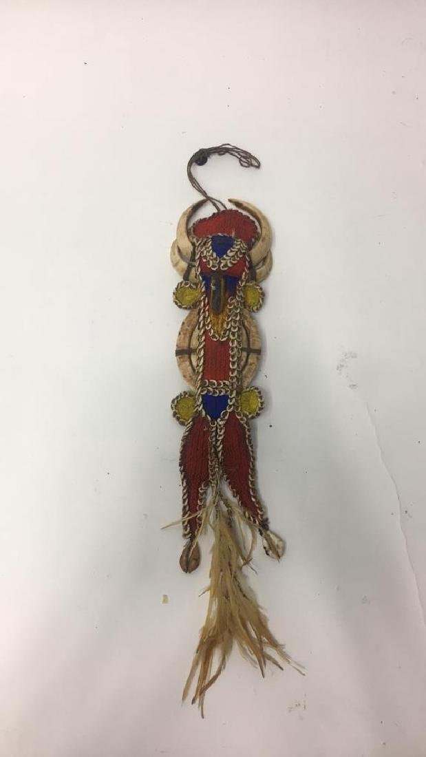 VERY FINE PAPUA NEW GUINEA SHELL & BEAD AMULET