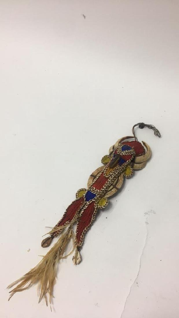 VERY FINE PAPUA NEW GUINEA SHELL & BEAD AMULET - 2