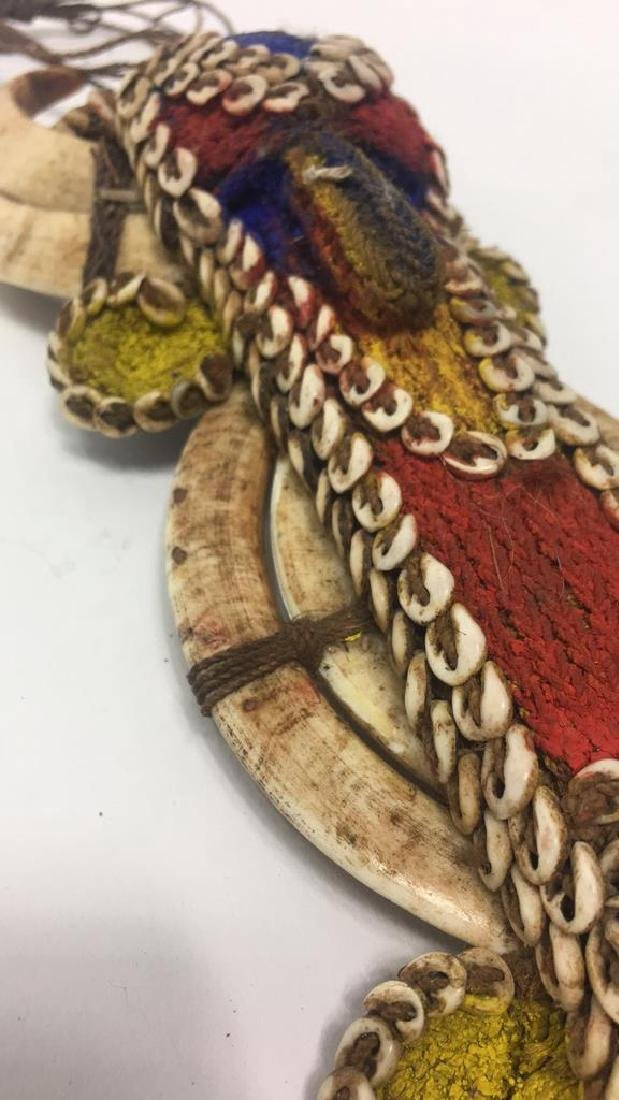 VERY FINE PAPUA NEW GUINEA SHELL & BEAD AMULET - 8