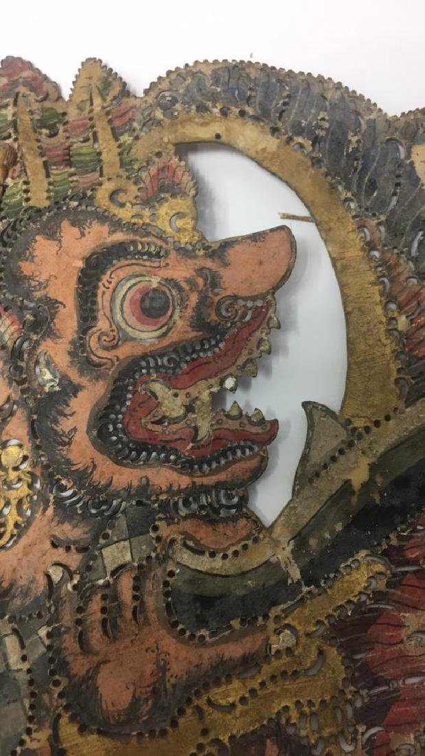 GROUPING OF JAVANESE PIERCED SHADOW PUPPETS - 10