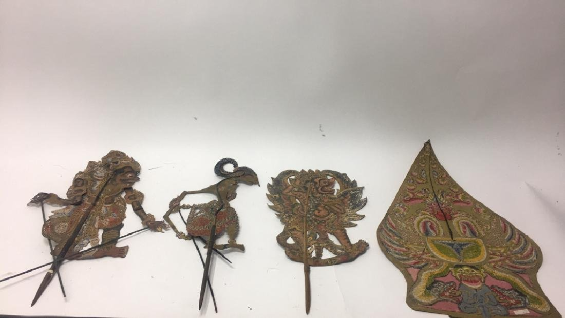 GROUPING OF JAVANESE PIERCED SHADOW PUPPETS