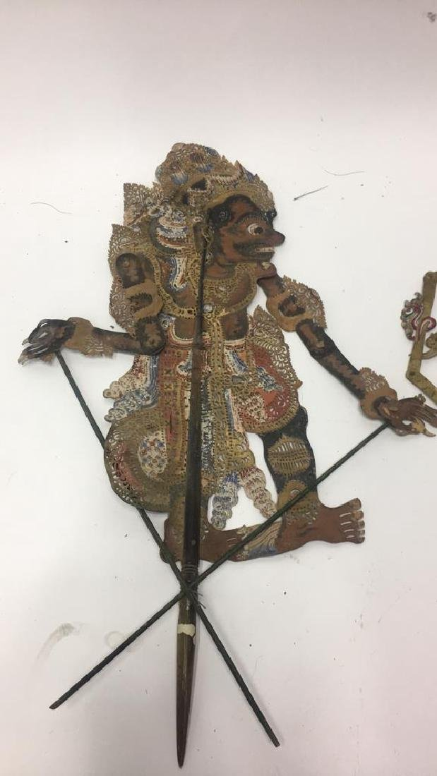 GROUPING OF JAVANESE PIERCED SHADOW PUPPETS - 2