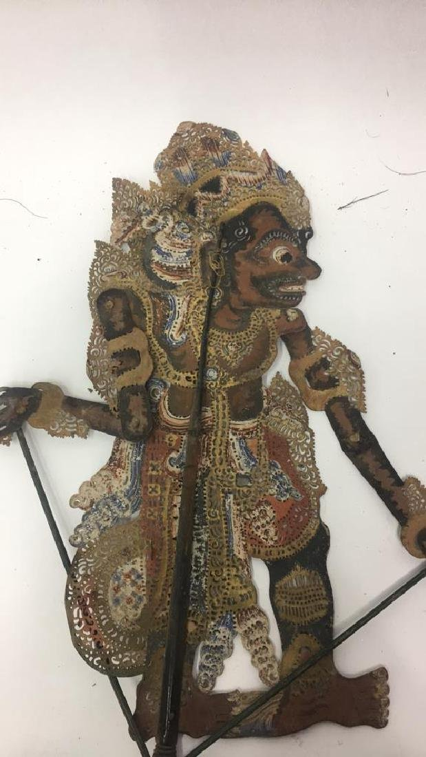 GROUPING OF JAVANESE PIERCED SHADOW PUPPETS - 3
