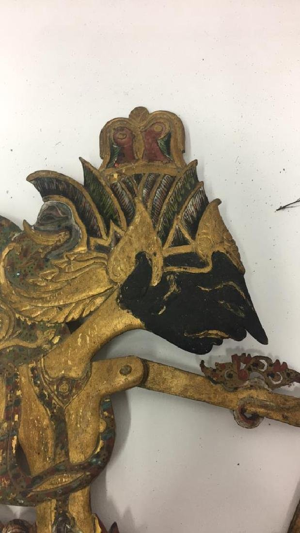 GROUPING OF JAVANESE SHADOW PUPPETS - 3