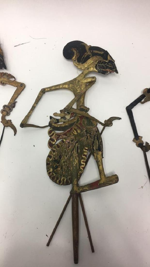 GROUPING OF JAVANESE SHADOW PUPPETS - 5