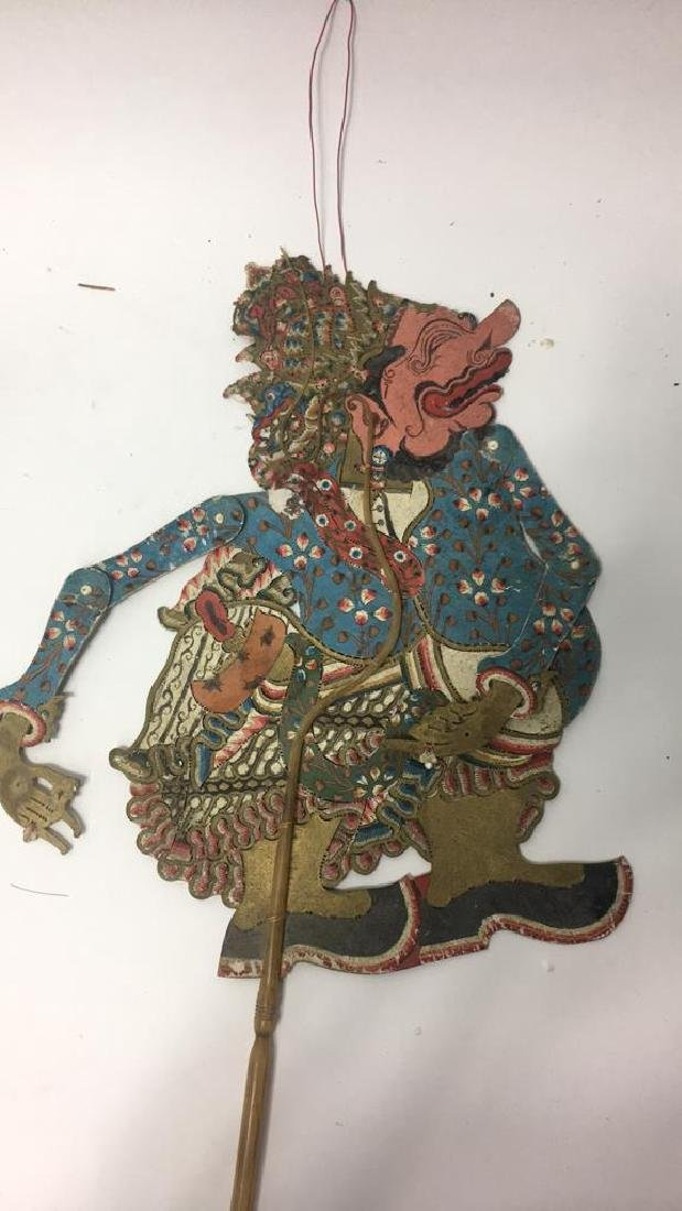 GROUPING OF JAVANESE SHADOW PUPPETS - 9