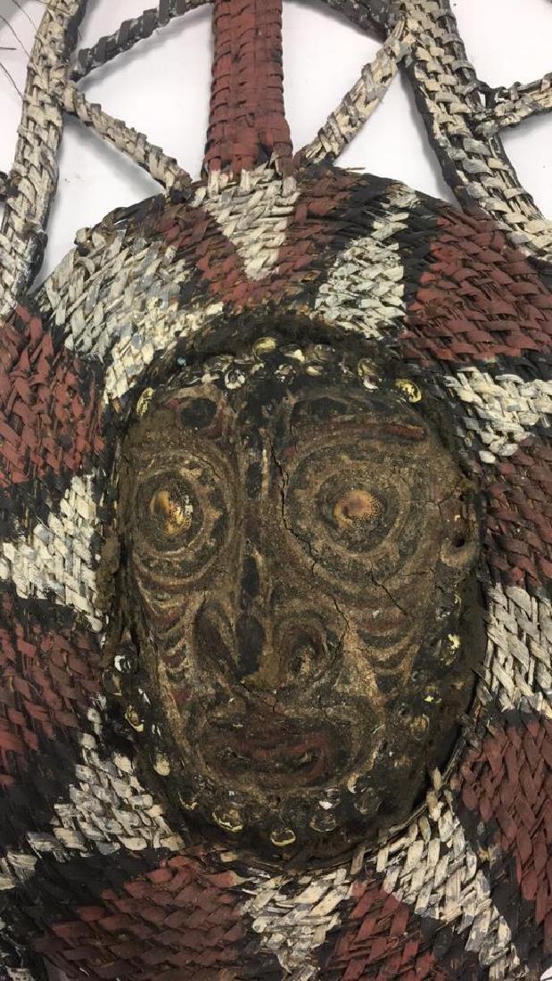 PAPUA NEW GUINEA WOVEN HEADDRESS DANCE OBJECT - 3