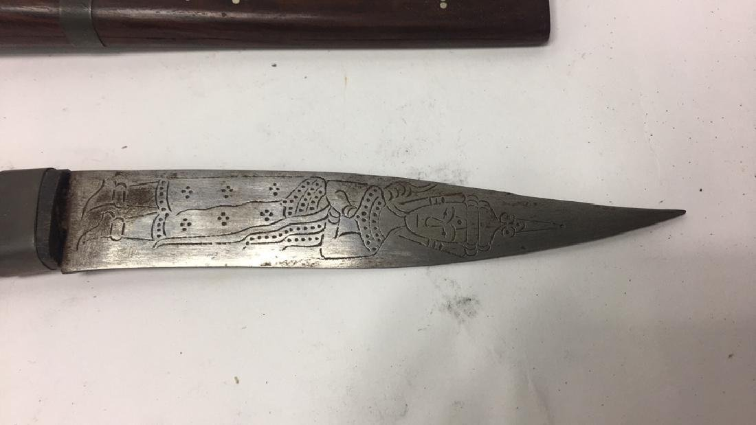 THAI CARVED & DECORATED KNIFE - 7