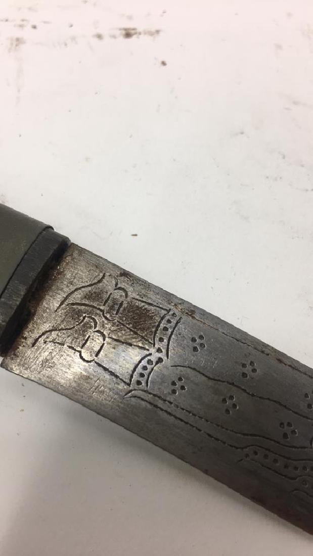 THAI CARVED & DECORATED KNIFE - 9