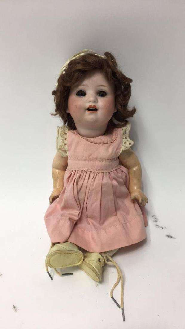 ANTIQUE GERMAN BISQUE & COMPOSITION DOLL