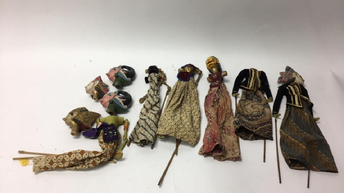 GROUPING OF PUPPET PARTS ETC