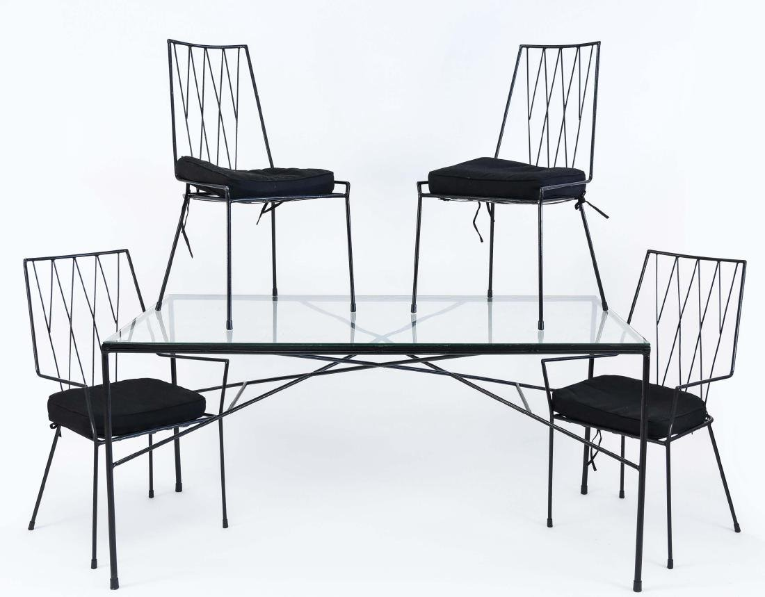 PAUL MCCOBB MID-CENTURY IRON DINING SET