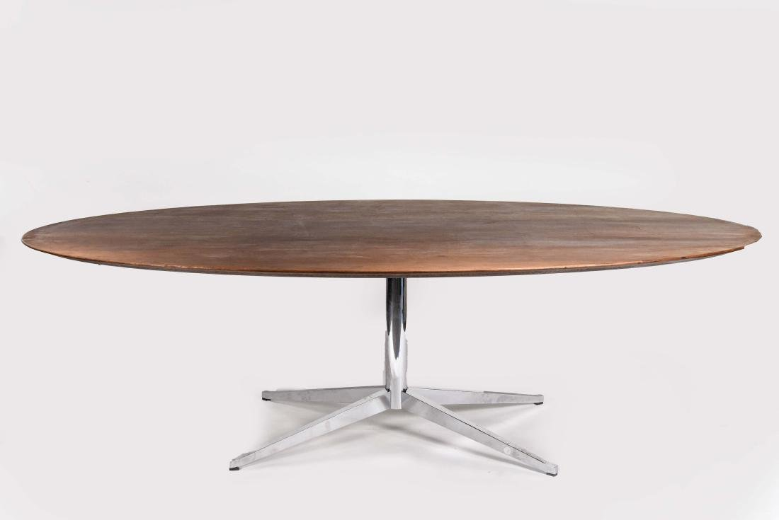 KNOLL WALNUT CONFERENCE TABLE