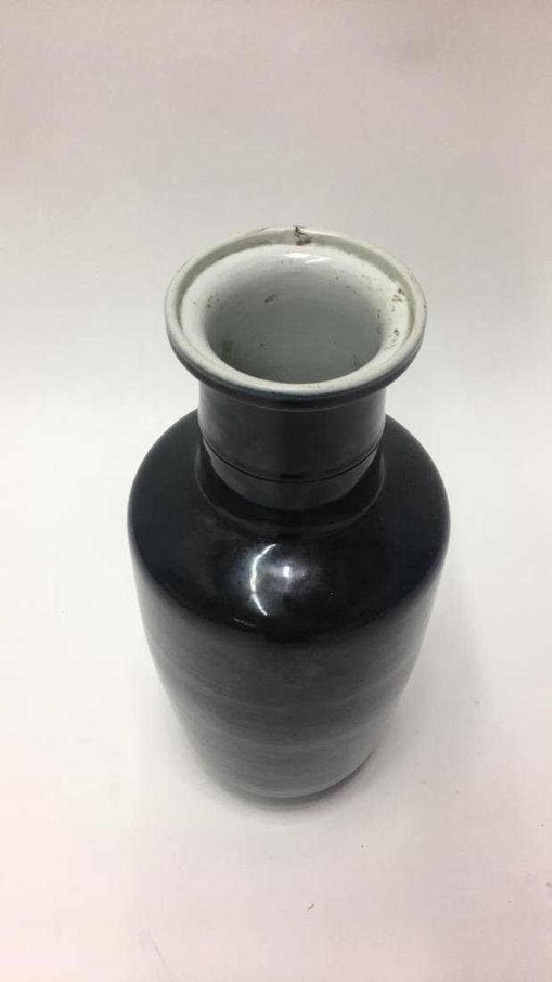 CHINESE KANGXI BLACK VASE - 2