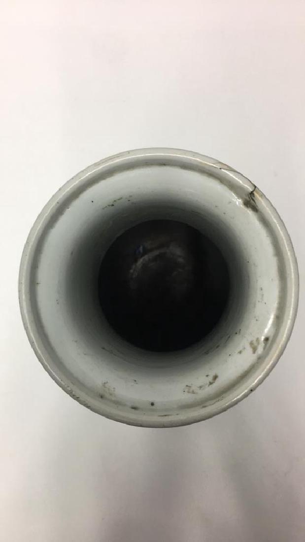 CHINESE KANGXI BLACK VASE - 9