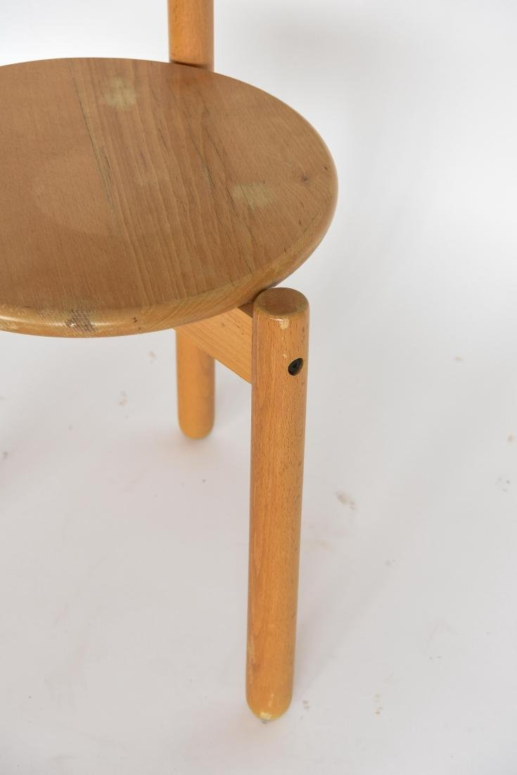 MID-CENTURY THREE LEG CIRCLE BACK CHAIR - 4