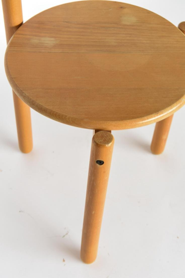 MID-CENTURY THREE LEG CIRCLE BACK CHAIR - 6