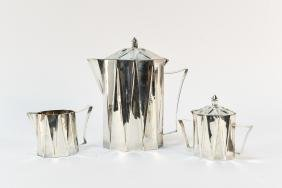 LARRY LASLO; TOWLE MODERNIST TEA SERVICE