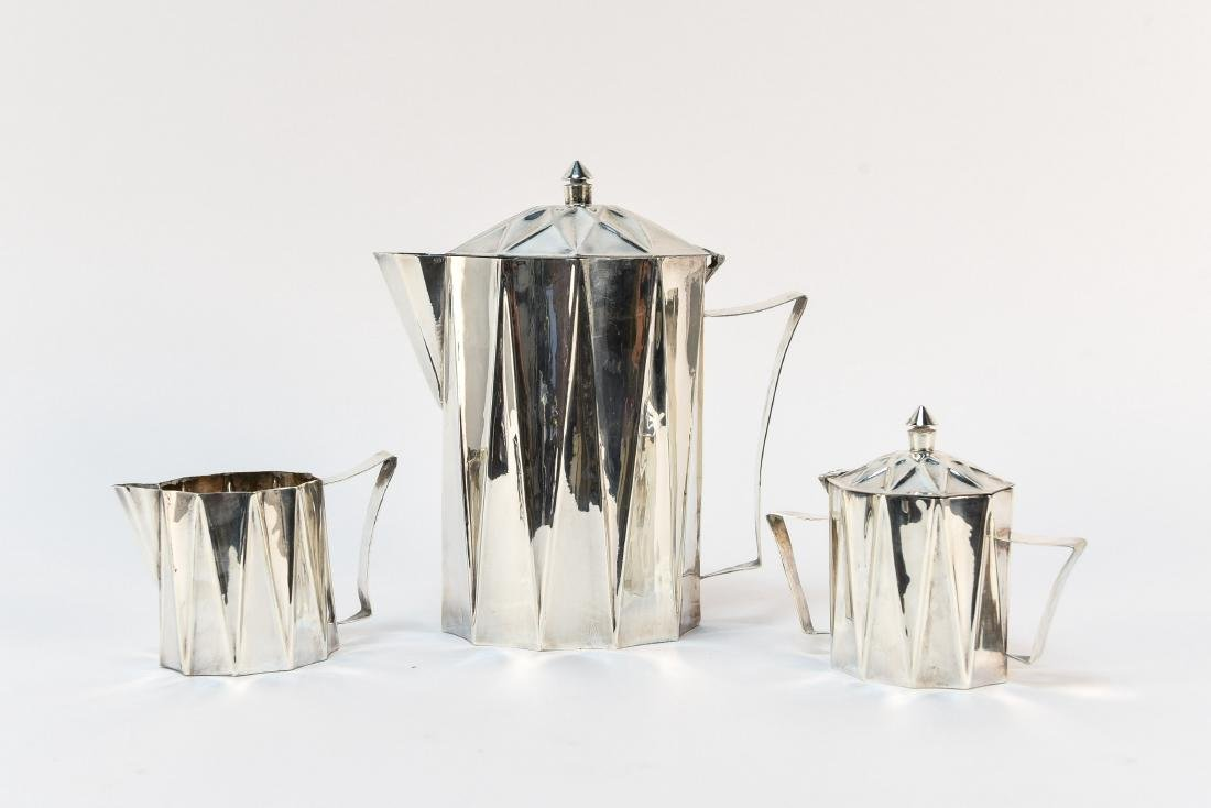 LARRY LASLO; TOWLE MODERNIST TEA SERVICE