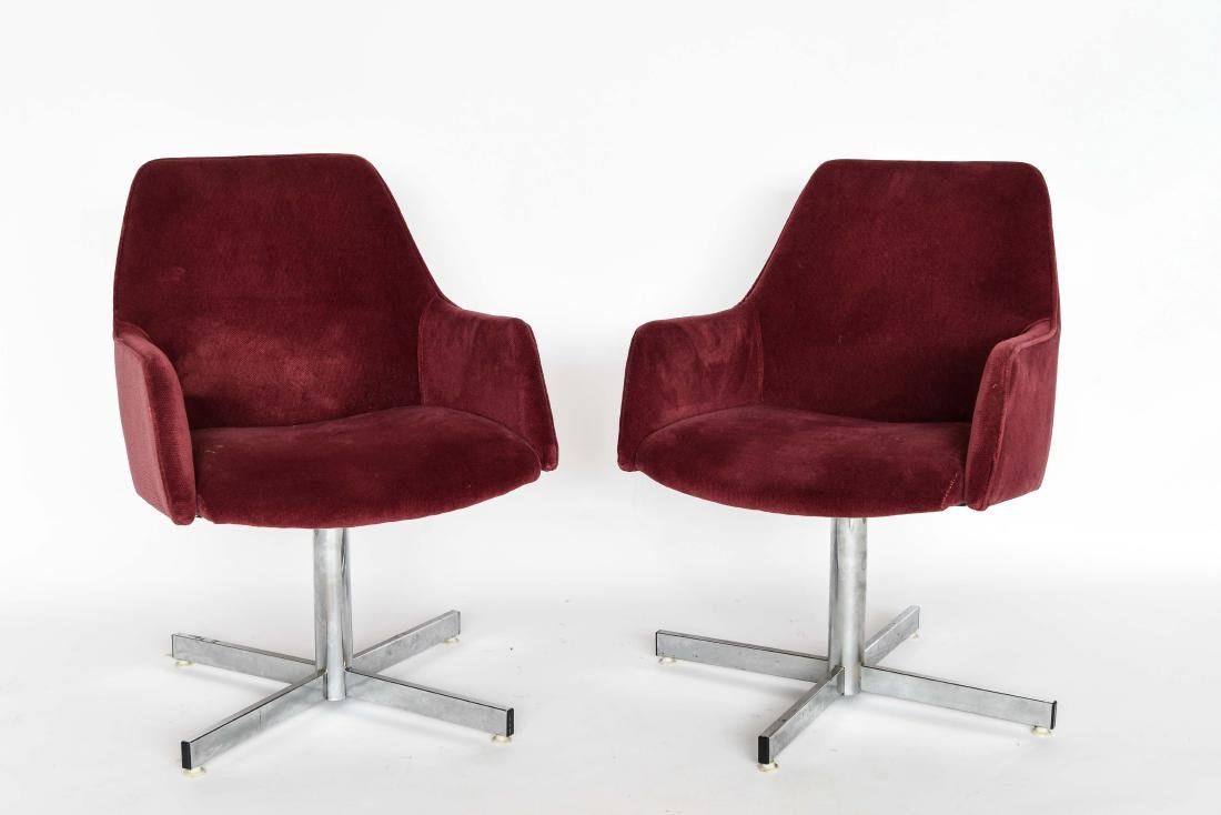 PAIR OF MID-CENTURY UPHOLSTERED CHAIRS