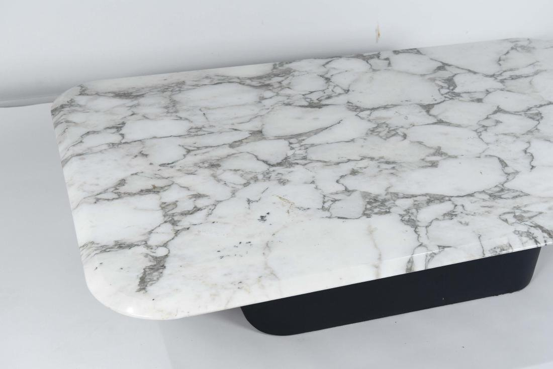 LEATHER & MARBLE TOP COFFEE TABLE - 5