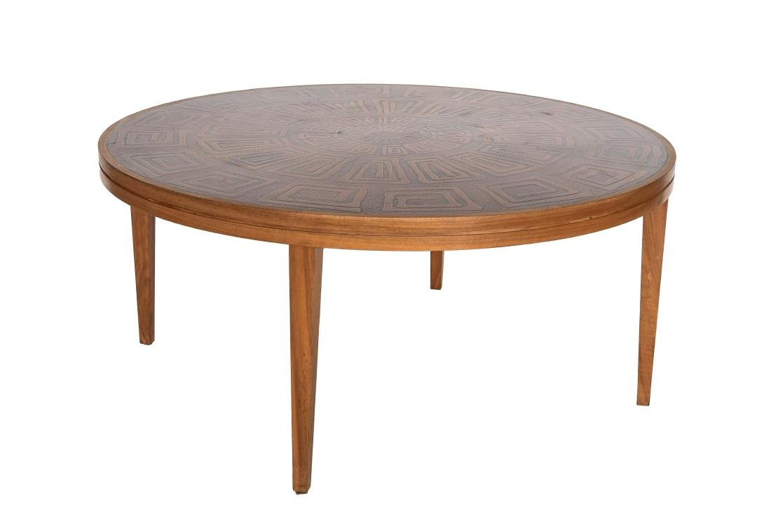 HASLEV COPPER TOPPED COFFEE TABLE DENMARK