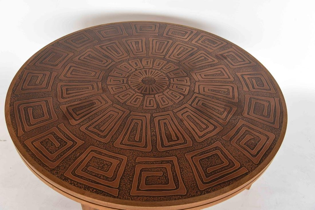 HASLEV COPPER TOPPED COFFEE TABLE DENMARK - 3